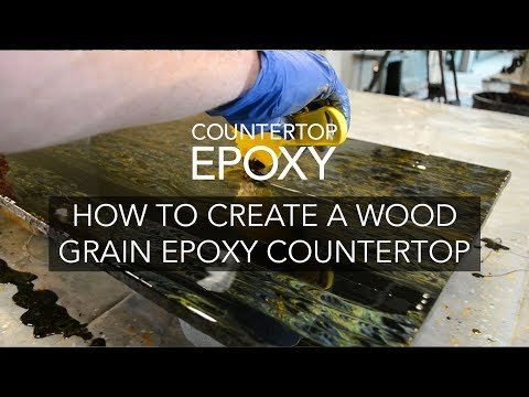How to Create a Wood Grain Pattern in an Epoxy Countertop