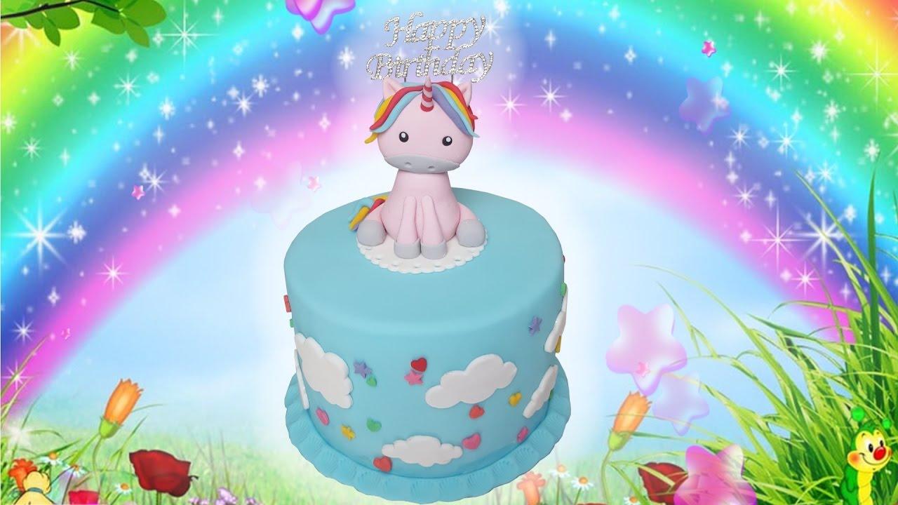 Einhorntorte Unicorncake Birthdaycake YouTube