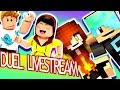 DUEL LIVE STREAM with Gamer Chad - Minecraft & Roblox - DOLLASTIC PLAYS!