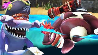 Hungry Shark World - Killer Whale Crashing Over Drones With Super Jetpack!