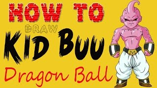 How to Draw Kid Buu  Dragon Ball pokemon Drawing and painting Tutorial -by Ria 3d Paintings