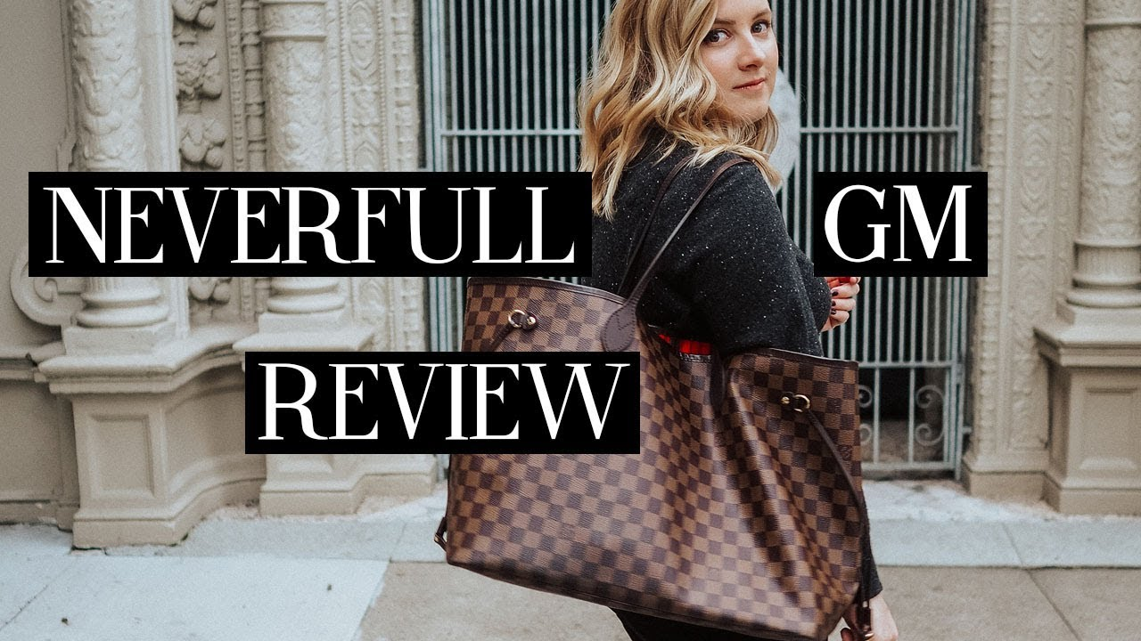 499e6a7f8c LOUIS VUITTON NEVERFULL GM REVIEW | Blondes & Bagels - YouTube