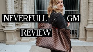 LOUIS VUITTON NEVERFULL GM REVIEW | Blondes & Bagels