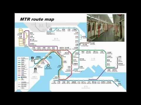 Hong Kong MTR route map - animated