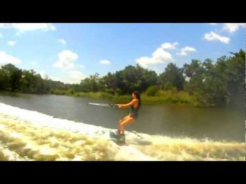 Girl crashes on wakeboard funny faceplant