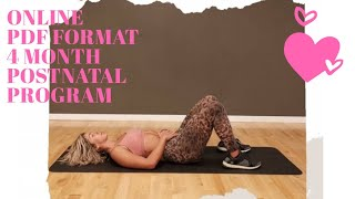 New mum? Check out my online PDF Postnatal exercise program