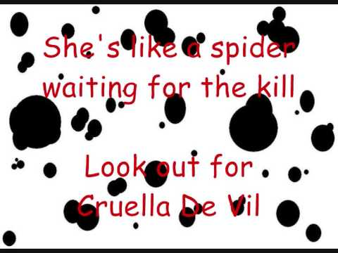 Cruella De Vil with Lyrics