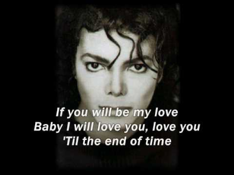 Michael Jackson - Butterflies with Lyrics