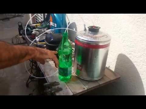 Bomba vac o casera con compresor frigor fico para cambio for Aceite para compresor