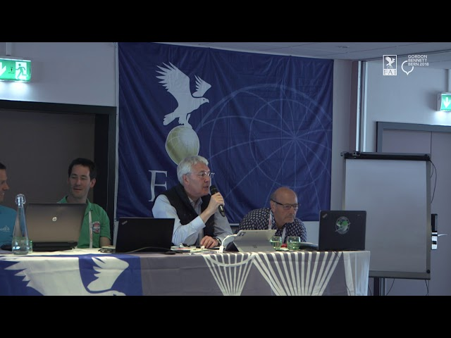 REPLAY - Coupe Aéronautique Gordon Bennett 2018 - General Briefing