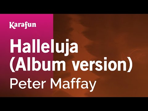 Karaoke Halleluja (Album Version) - Peter Maffay *