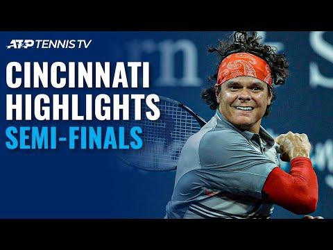 Raonic Rockets Past Tsitsipas; Djokovic from the Brink!   Cincinnati Semi-Final Highlights