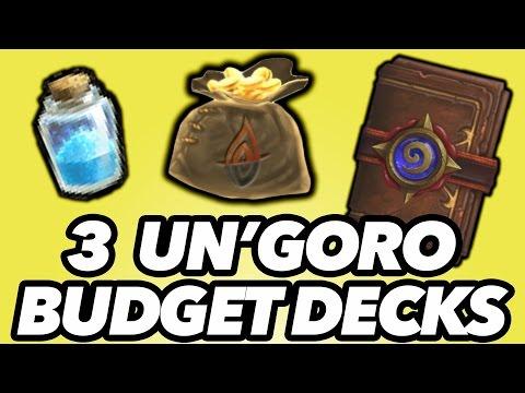 3 Budget Decks That Will Get You Legend! (Un'Goro Hearthstone)
