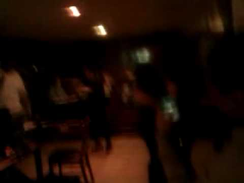 Engineer attempts Michael Jackson dancing at Karaoke.