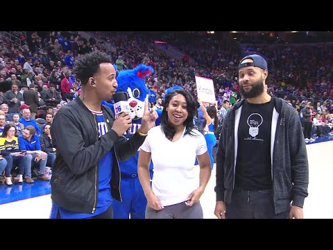 Surprise Marriage Proposal At Sixers Game