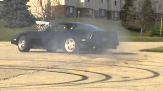 Blown 85 Corvette supercharged donuts by Mothug Doug!