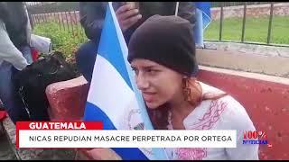 Nicas repudian masacre perpetrada por Ortega