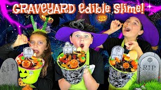 How to Make EDIBLE GRAVEYARD SLIME! Gummy Worms, Oreo's and Marshmallows!!