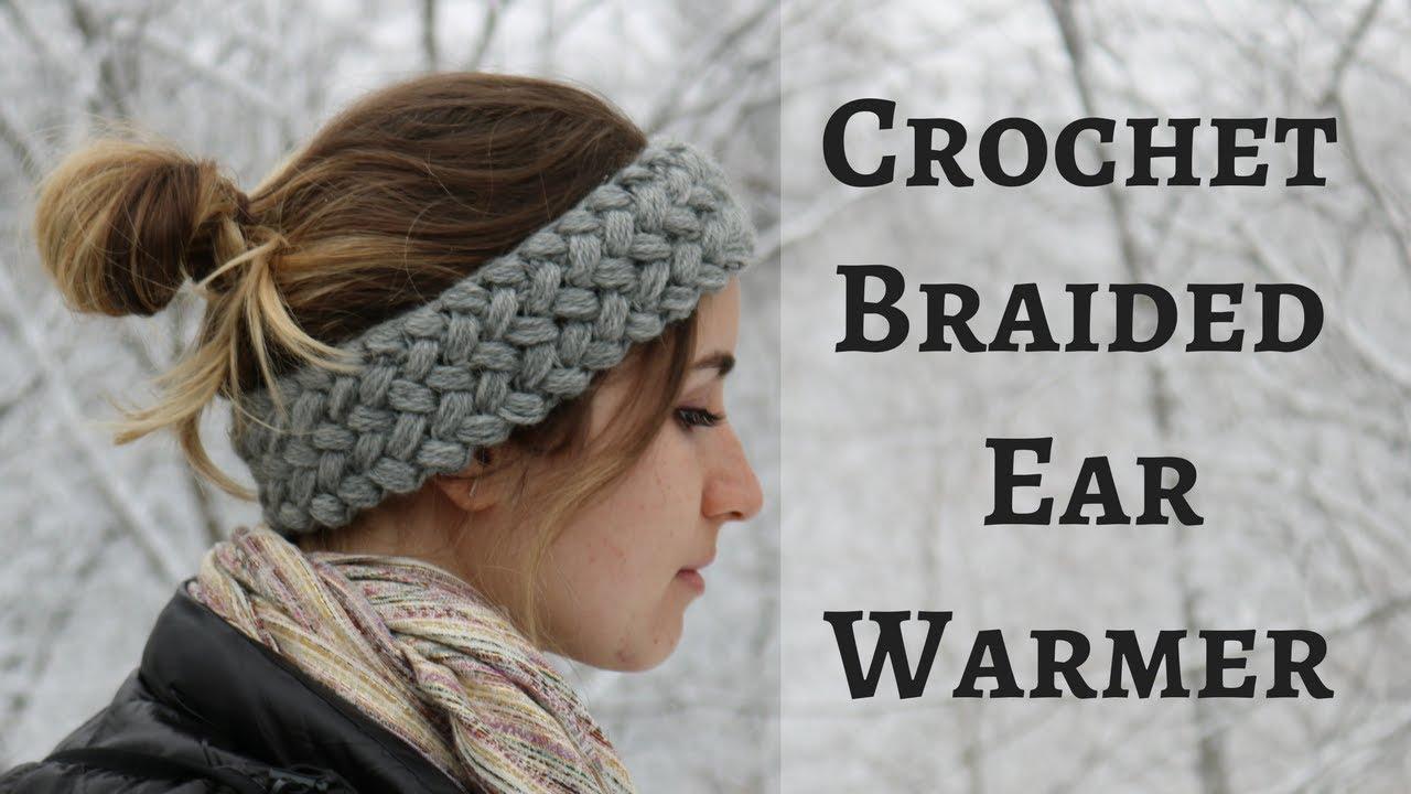 How to Crochet a Braided Headband Ear Warmer - YouTube f110813b371