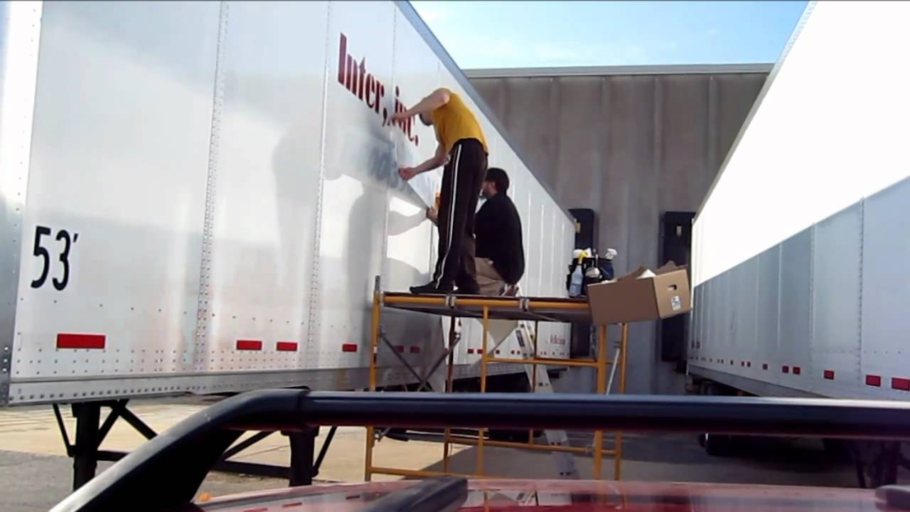How To Install Large Vinyl Graphics On Trailer YouTube - Decal graphics inc