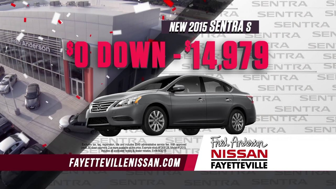 Fred Anderson Nissan Of Fayetteville   2015 Model Closeout