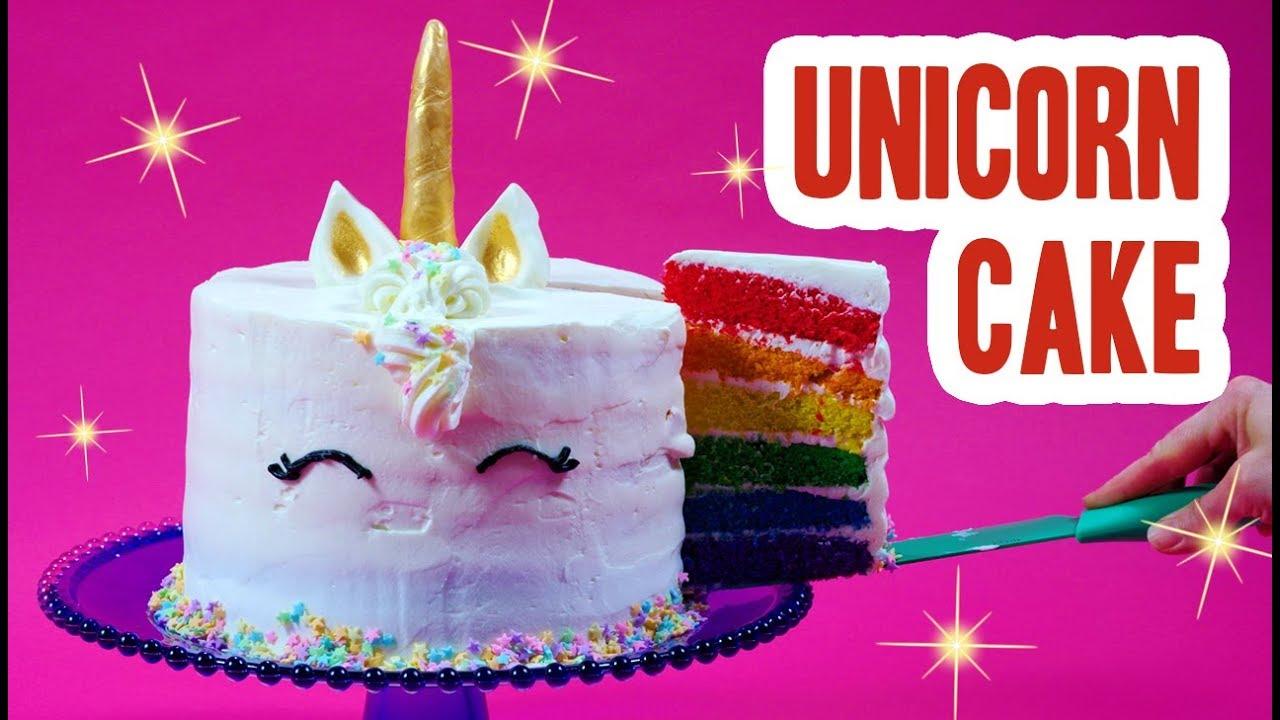 Rainbow Unicorn Cake Youtube
