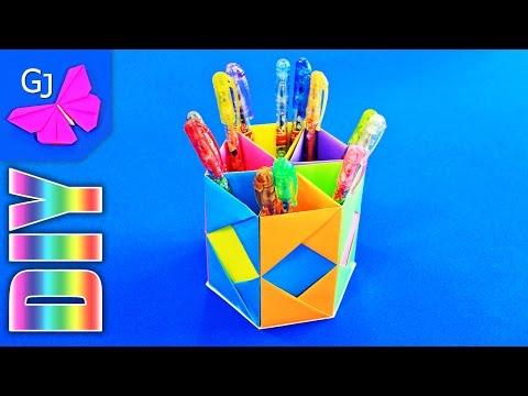Как сделать красивую подставку для карандашей своими руками