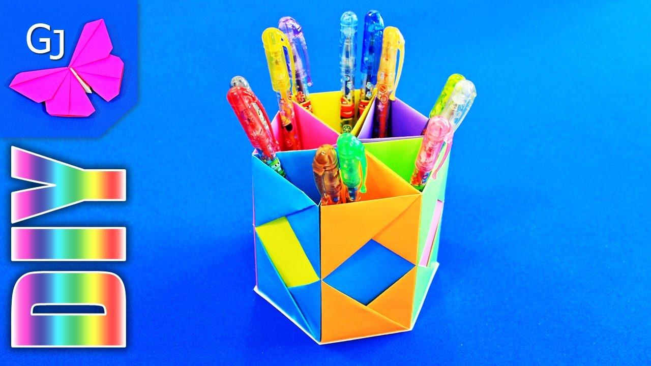 Как сделать стакан из бумаги для карандашей