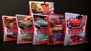 Disney Cars 2 Lightning McQueen, Dustin Mellows, Jonathan Wrenchworths, GRETA Retro Radiator Springs
