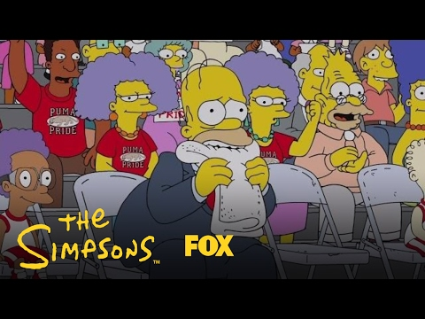 Homer Nervously Watches As Bart Plays Basketball | Season 28 Ep. 16 | THE SIMPSONS