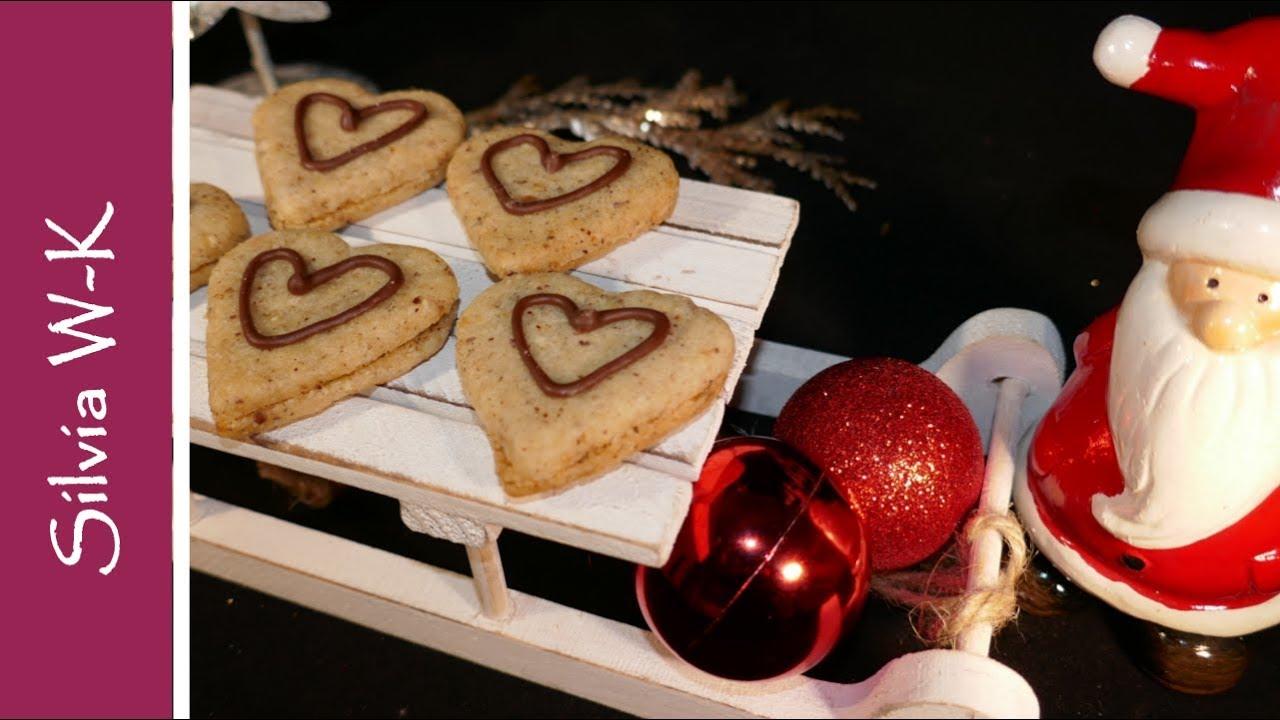 Weihnachtsplätzchen Nougat.Nougat Herzen Weihnachtsplätzchen Nougatherzen Plätzchen