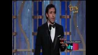 Sacha Baron Cohen - Funny Speech At Golden Globes 2013
