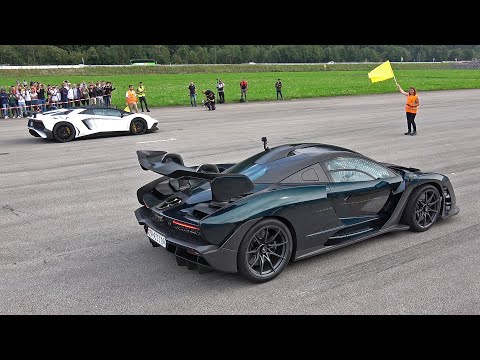 Lamborghini Aventador LP750 SV Roadster vs McLaren Senna