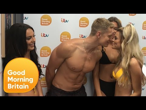 Love Island's Rosie, Charlie, Zara and Hayley's Kissing Game | Good Morning Britain