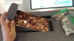 Depositing a ton of coins at a coinstar