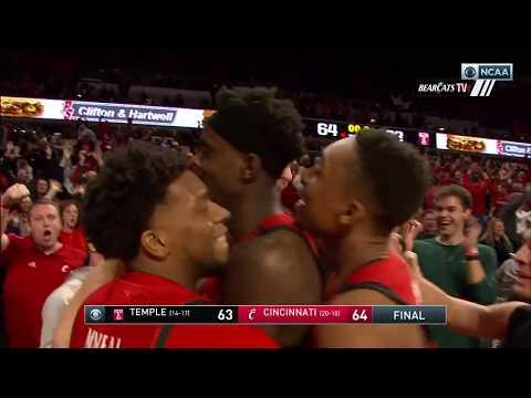 Men's Basketball Highlights: Cincinnati 64, Temple 63 (Courtesy CBS Sports)