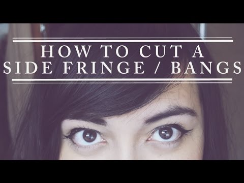 How To Cut A Side Fringe Bangs Yourself Youtube