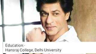 """Shahrukh Khan"" 2018 Lifestyle,Upcoming Movies,New Cars Collection,Awards and More"