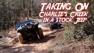 Stock Jeep YJ Conquers Charlie's Creek, GA