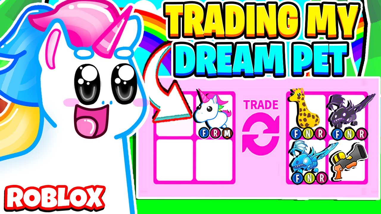 Trading Only My DREAM PET in Adopt Me! Mega Neon Unicorn! Roblox Adopt Me