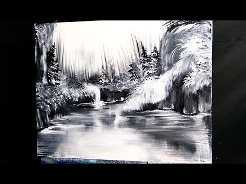Black And White Acrylic Painting For Beginners Art