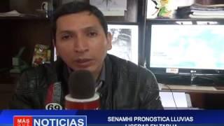 SENAMHI PRONOSTICA LLUVIAS LIGERAS EN TARIJA
