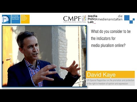 Talking Press Freedom and Media Pluralism with UN Special Rapporteur David Kaye