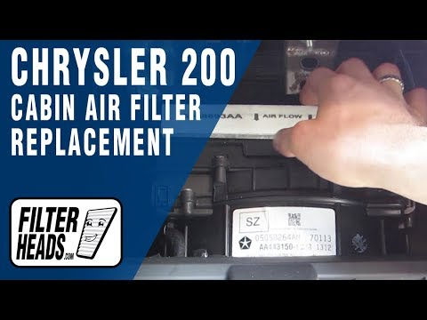 How to Replace Cabin Air Filter Chrysler 200 - YouTube