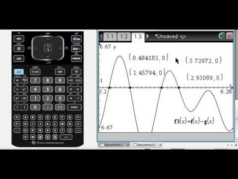 Graphically Solving Trig Equations on TI-Nspire - Most Popular Videos