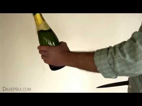 Как открыть шампанское ножом или современный сабраж