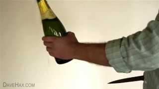 Как открыть шампанское ножом или современный сабраж(Сабраж (sabrage, от фр. sabrе — «сабля») — обычай откупоривать бутылку шампанского ударом сабли. 200 лет тому назад..., 2014-12-04T14:29:59.000Z)