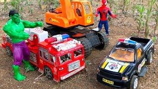 Rescate de Carros Atrapados en el Agua - Coches y Camiones Infantiles - Toys for kids
