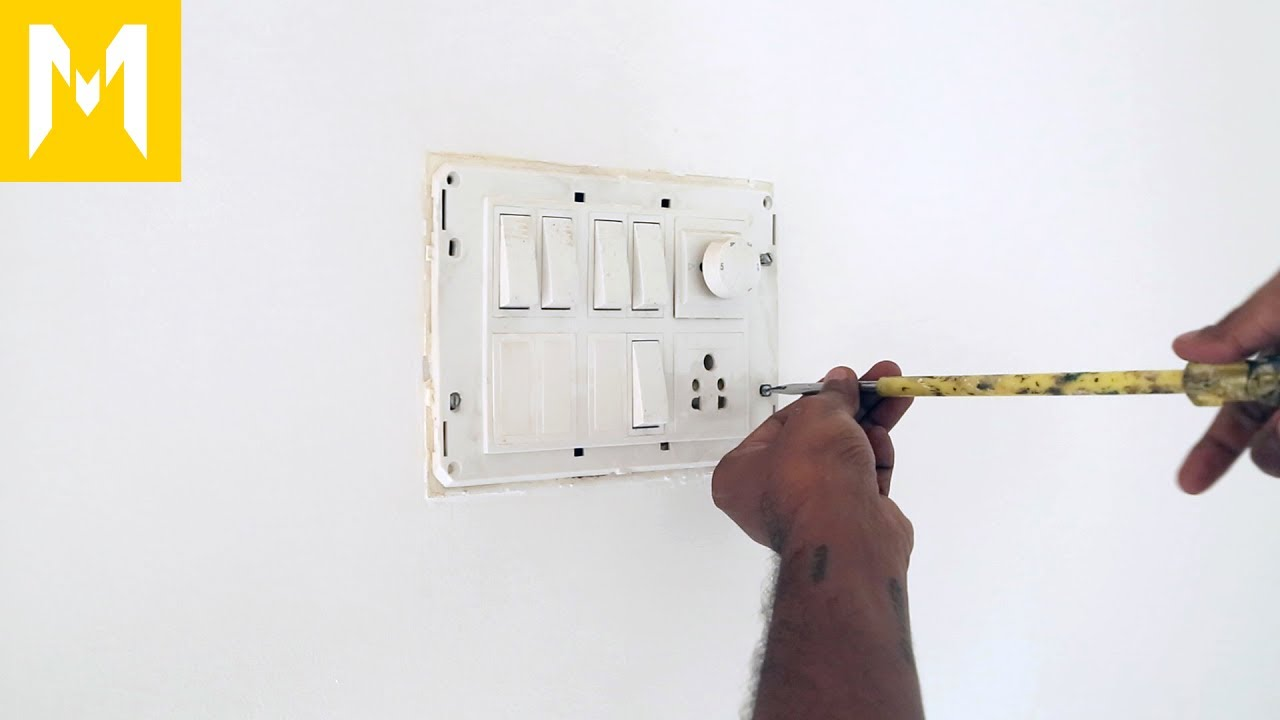 Wiring a room for more power sockets - YouTube