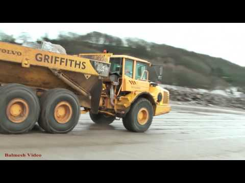 Ferryside - Dump Trucks and Diesel Trains.